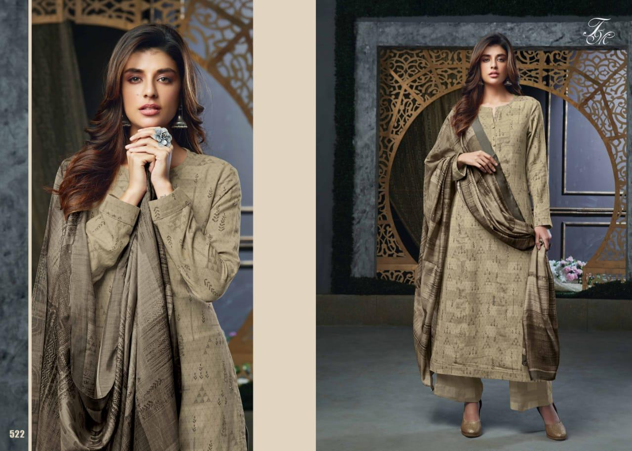 Gulmohar By T M Designer Studio 503 To 555 Series Beautiful Winter Collection Suits Stylish Fancy Colorful Casual Wear Ethnic Wear Pure Pashmina Digital Style Printed Dresses World Fashion Bd